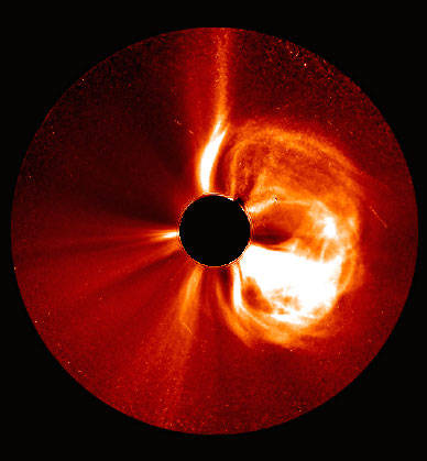 [A CME as seen by STEREO A (NASA).]