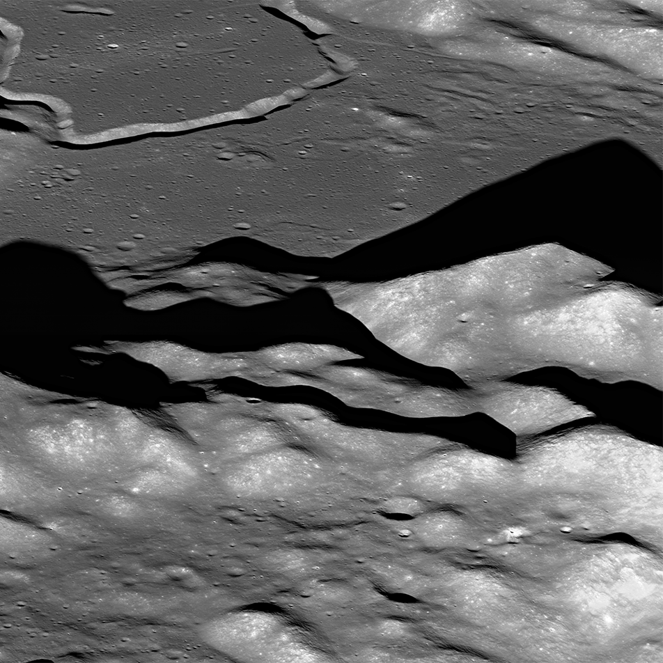 Mt. Hadley on the moon, seen by LRO