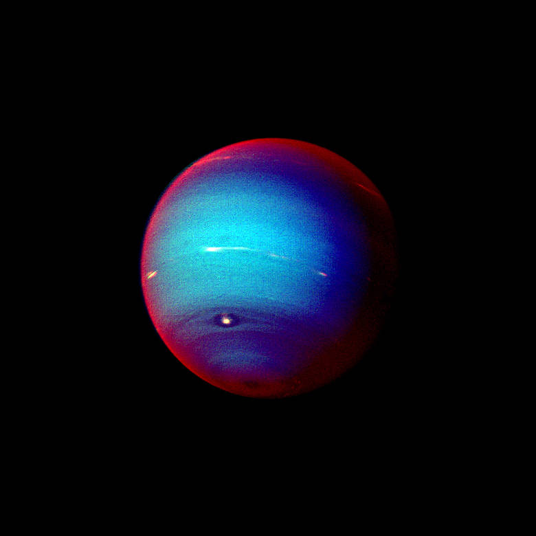 Parting Shot of Neptune as Voyager 2 began journey into interstellar space (Jan 1996)