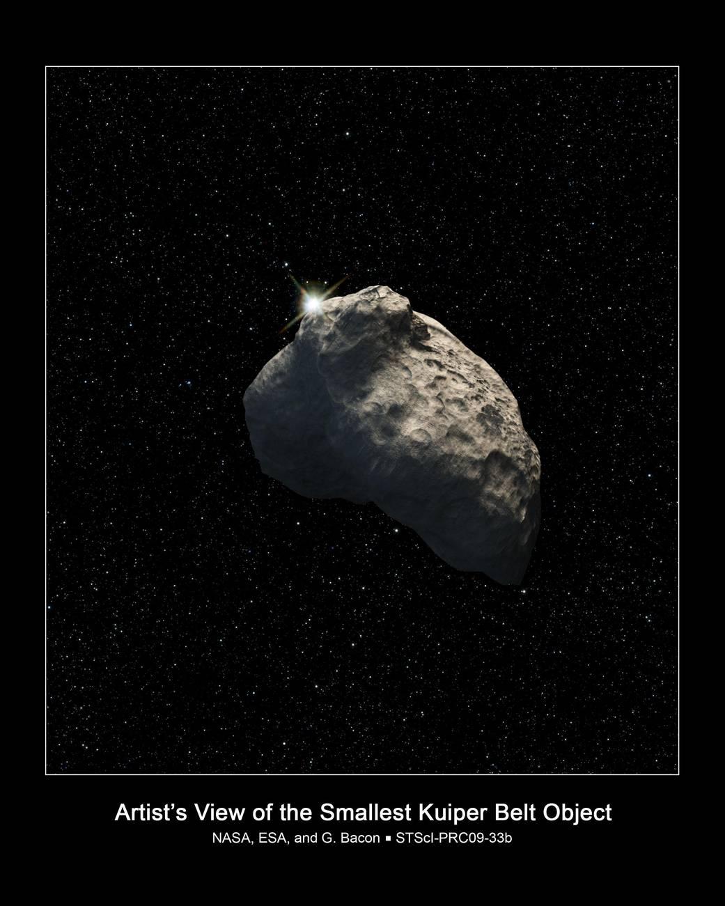 Hubble Finds Smallest Kuiper Belt Object