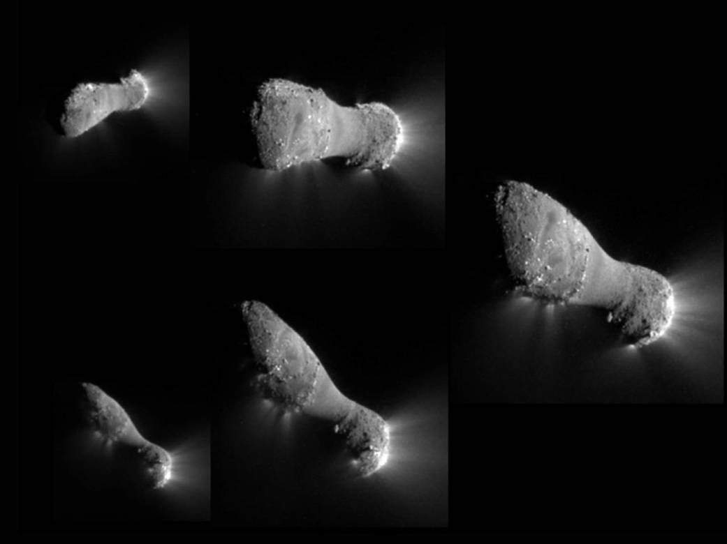 Montage of comet Hartley 2 images taken by NASA's EPOXI mission NASA/JPL-Caltech/UMD image Source: NASA's