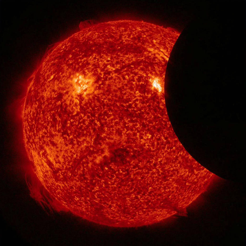 partial solar eclipse from space nasa