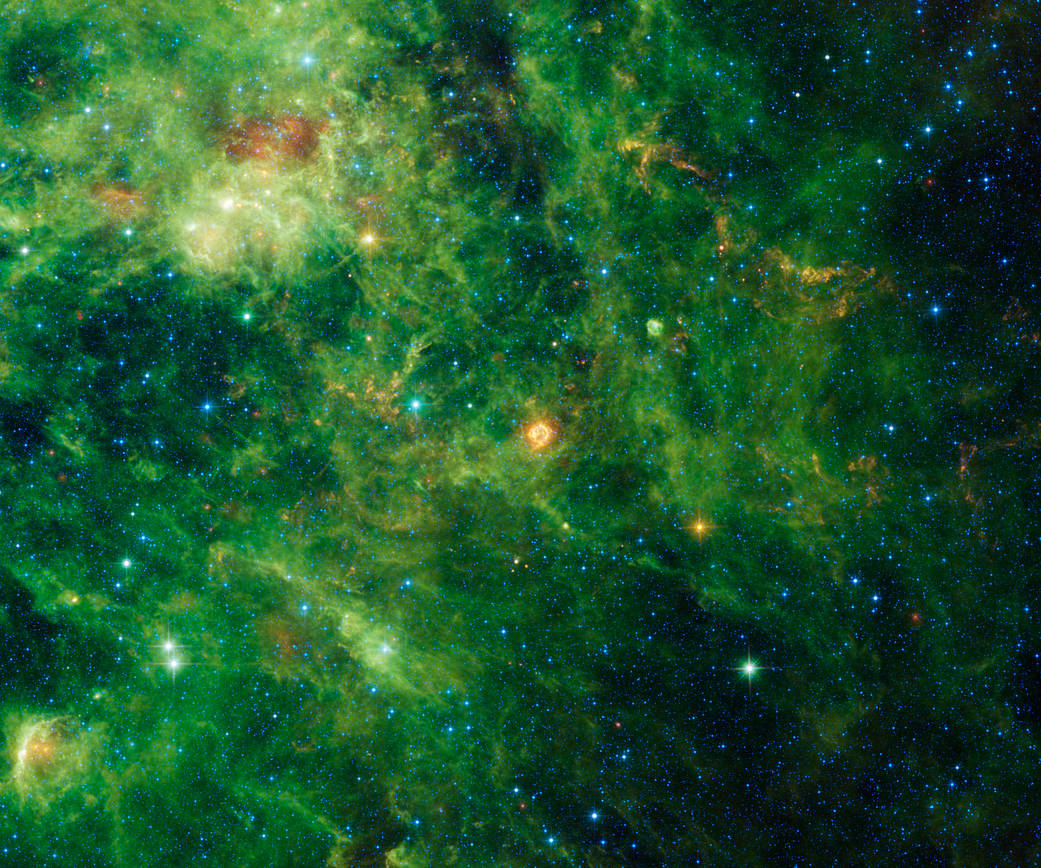 supernova from the direction of the constellation Cassiopeia