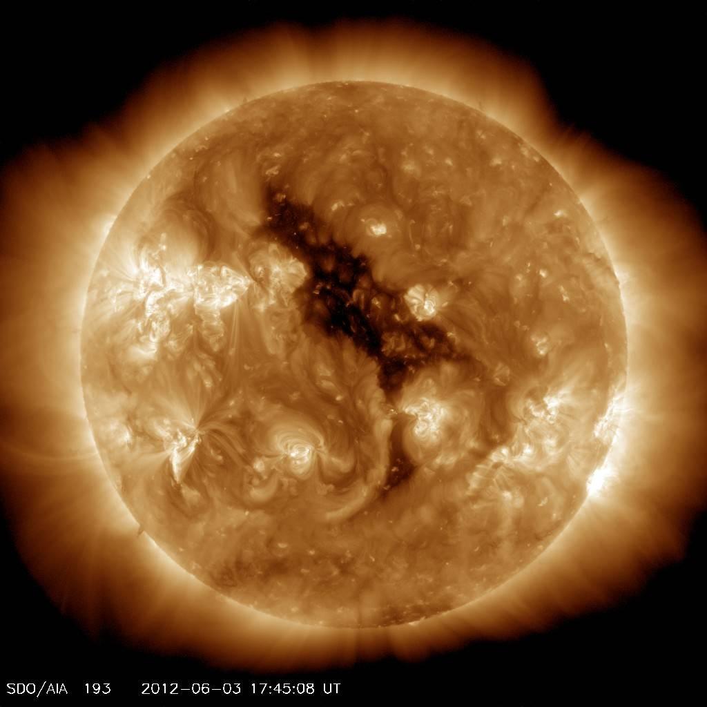 Coronal Hole on the Sun