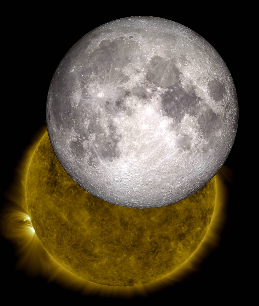 Composite image of the Sun and Moon