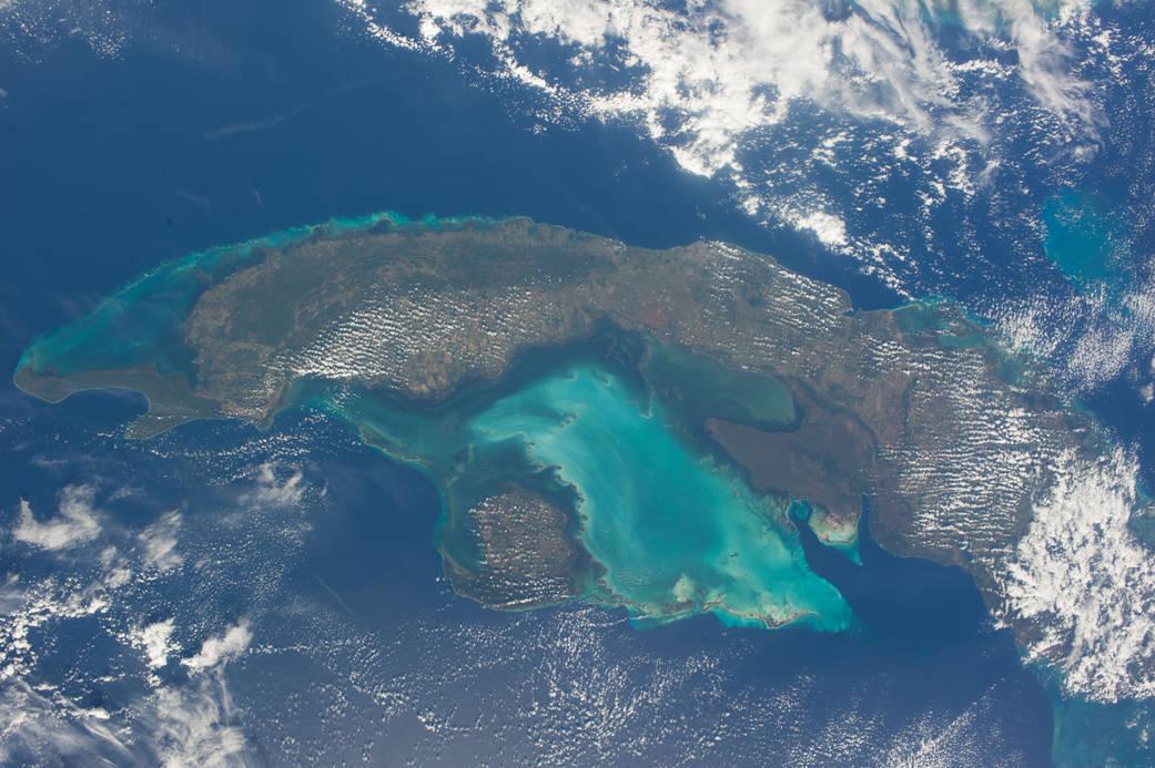 Foto des westlichen Kuba, aufgenommen von einem der Besatzungsmitglieder der Expedition 38 an Bord der Internationalen Raumstation.