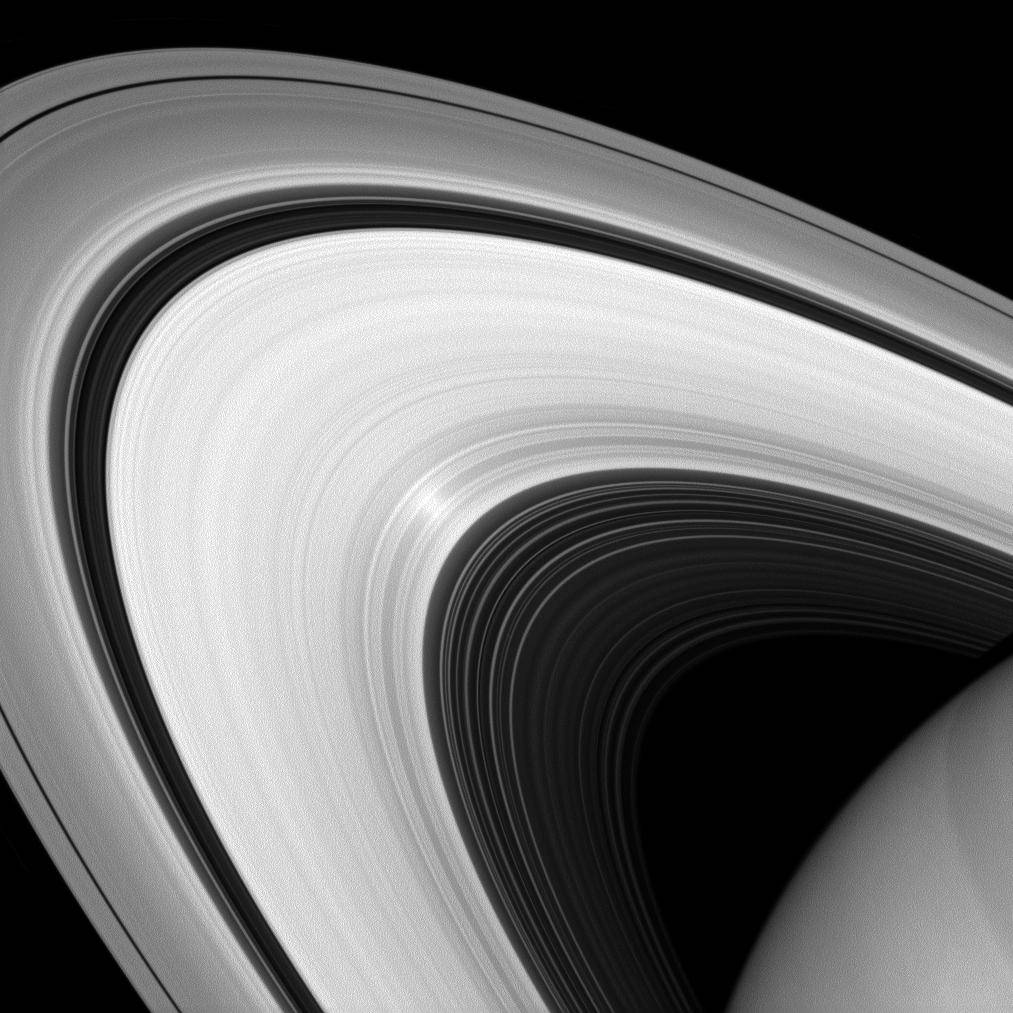 Although it may look to our eyes like other images of the rings, this infrared image of Saturn's rings was taken with a special