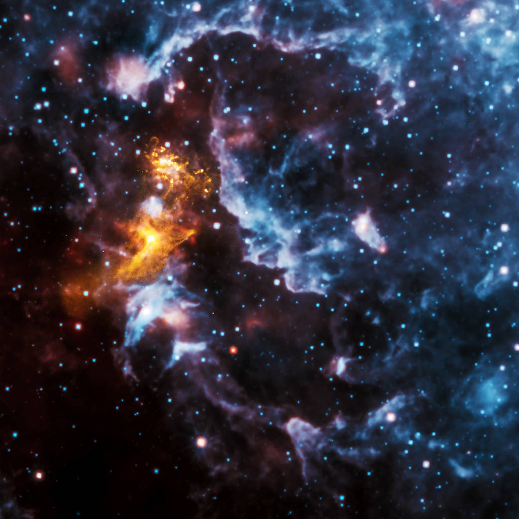 PSR B1509-58 -- a spinning neutron star surrounded by a cloud of energetic particles
