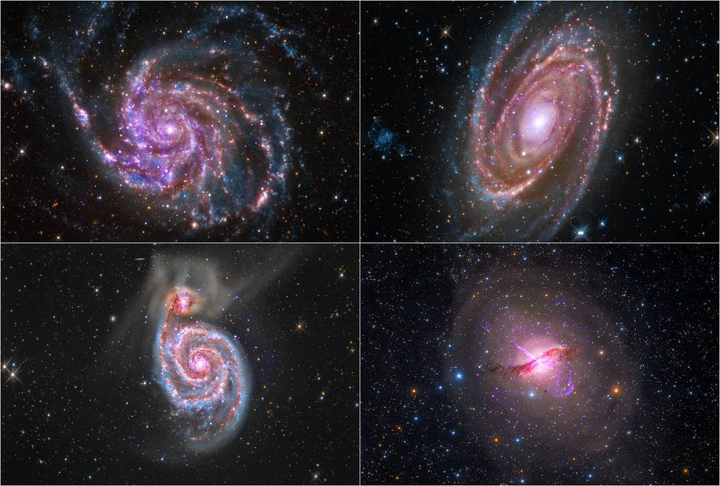 Images in this quartet of galaxies represent a sample of composites created with X-ray data from NASA's Chandra X-ray Observat