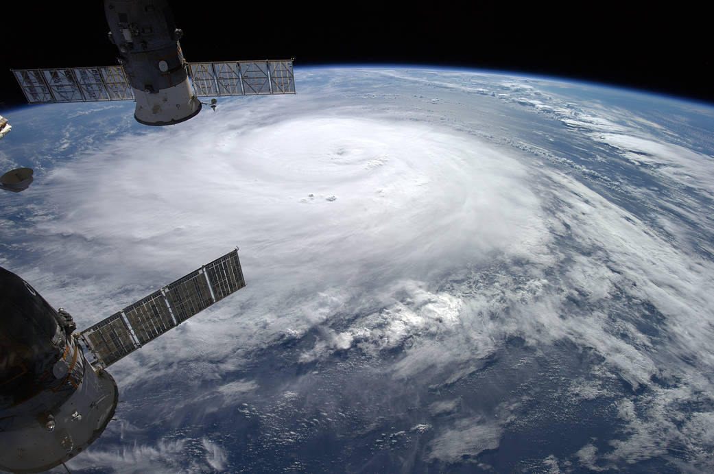 Hurricane Gonzalo Viewed From the International Space Station