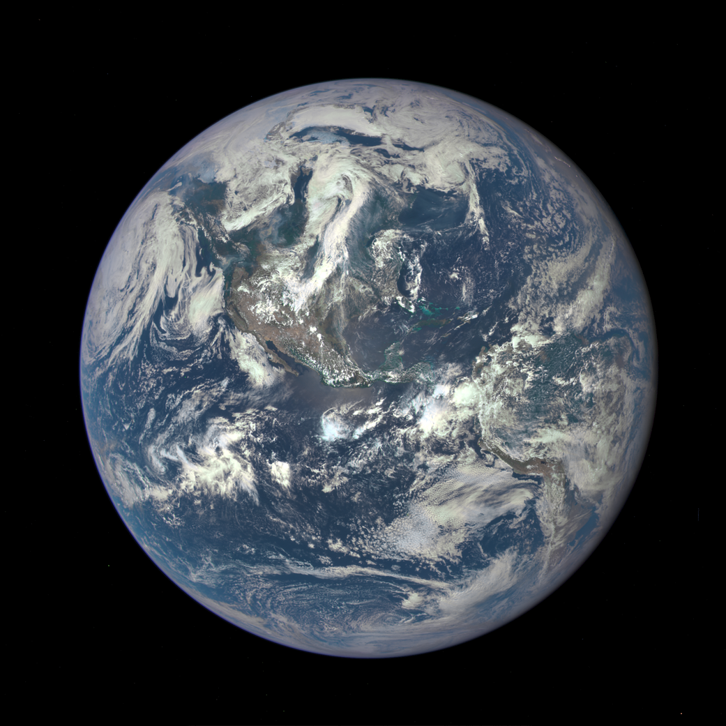Earth as seen on July 6, 2015 from a distance of one million miles by a NASA scientific camera
