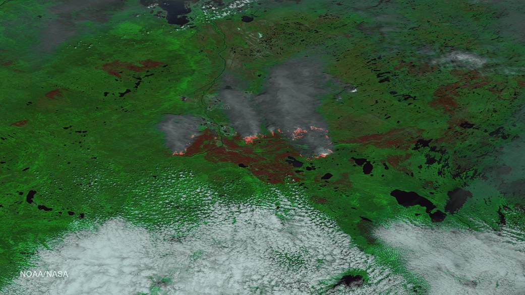 Fort McMurray blaze from Suomi NPP