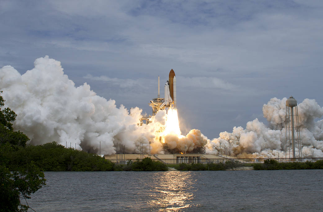 Space shuttle Atlantis, mission STS-135, launched from NASA's Kennedy Space Center to the International Space Station.