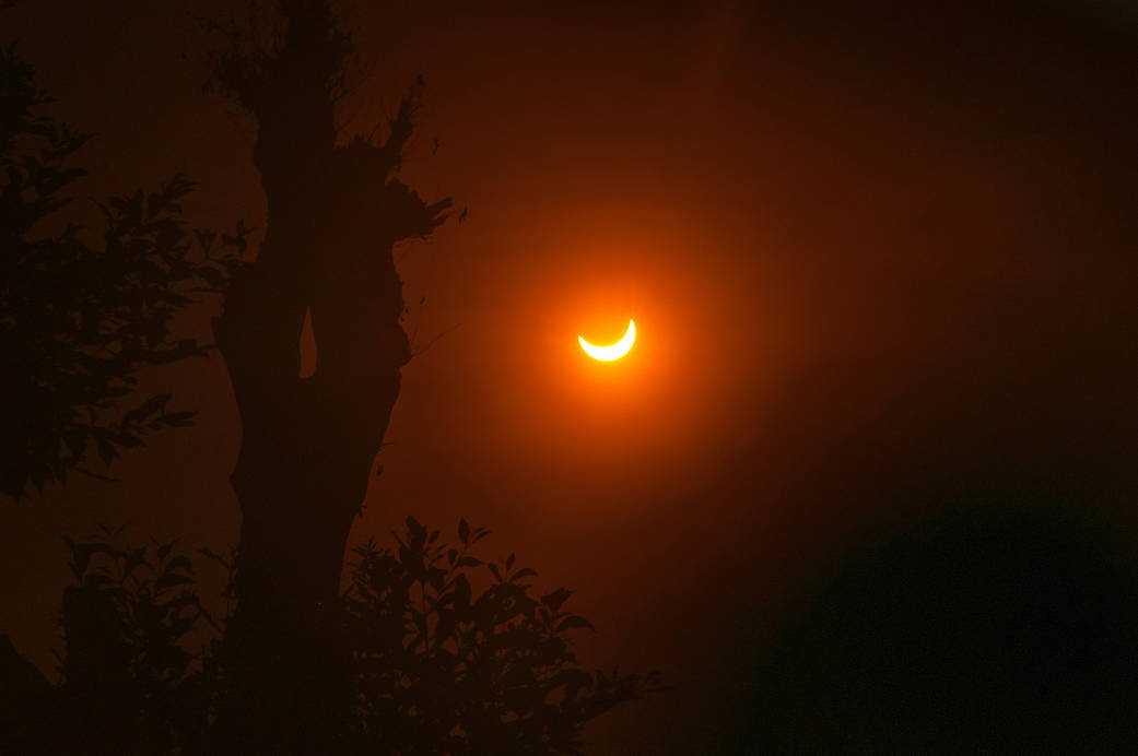 solar eclipse of March 2016 seen from Indonesia
