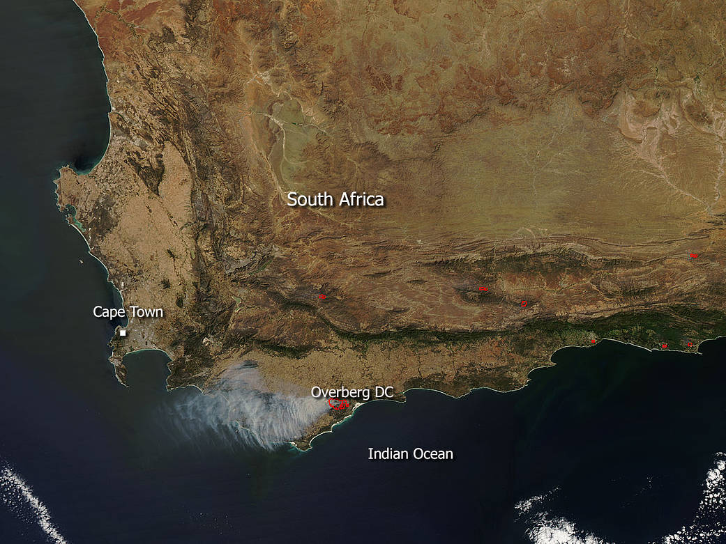 South Africa fires
