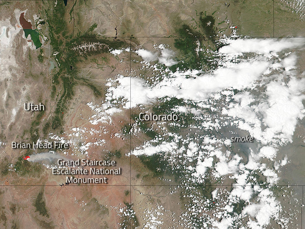 Smoke From Brian Head Fire Drifts Across Colorado