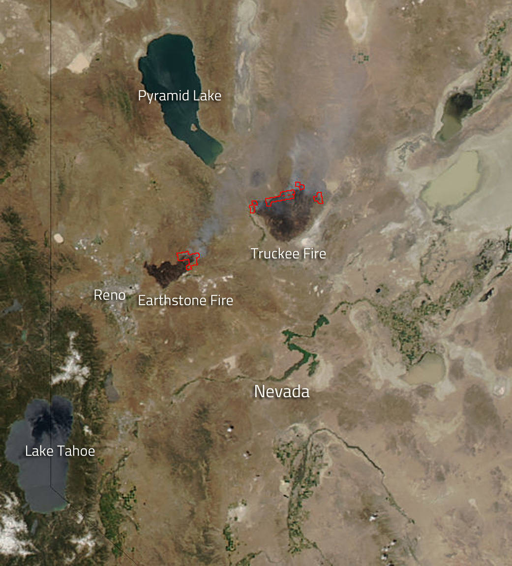 Fires In Nevada Map NASA Sees Nevada's Own