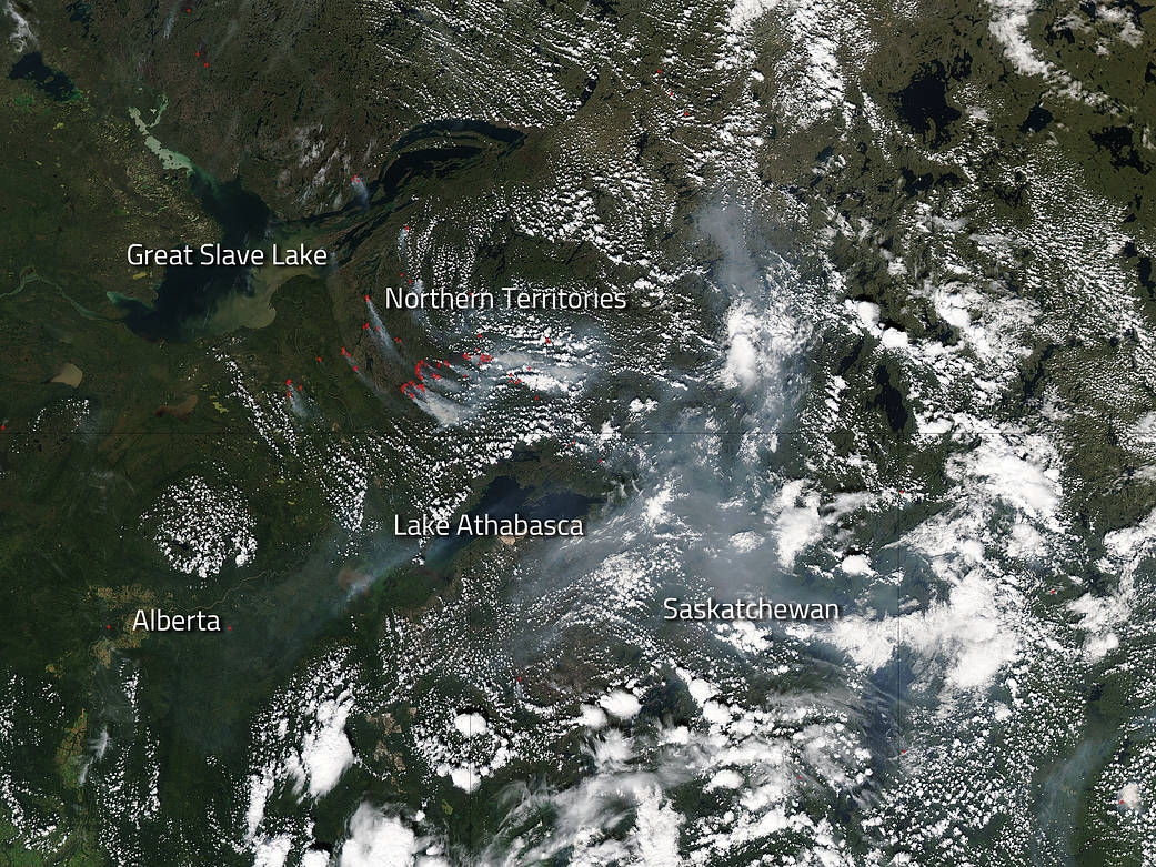 Fires in Canada's Northern Territories