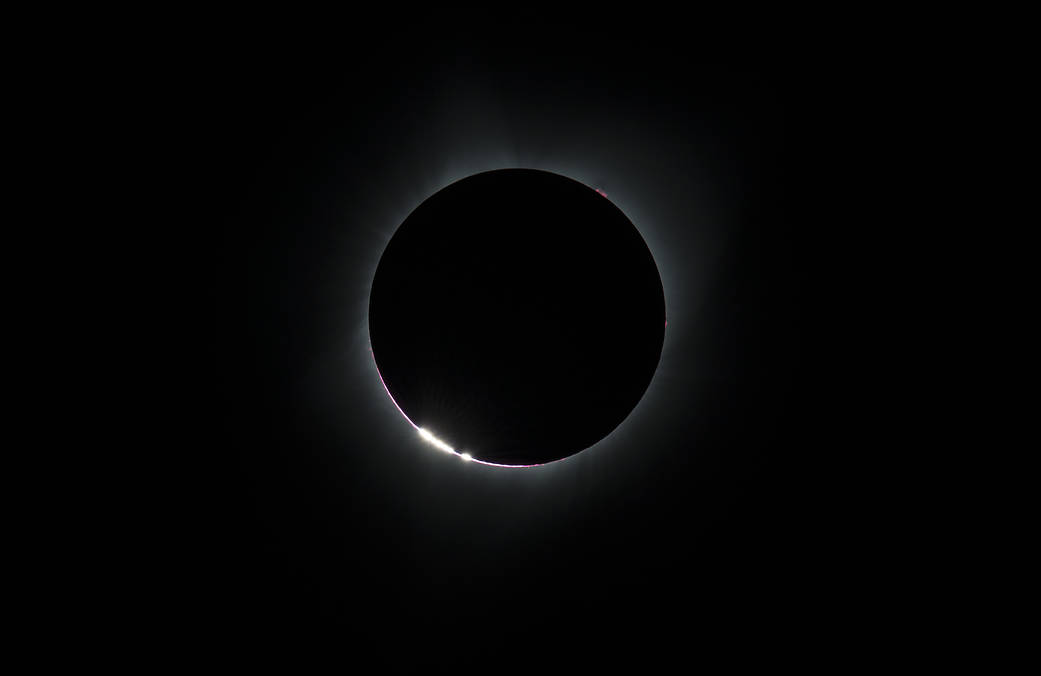 Bailey's Beads During 2017 Total Solar Eclipse