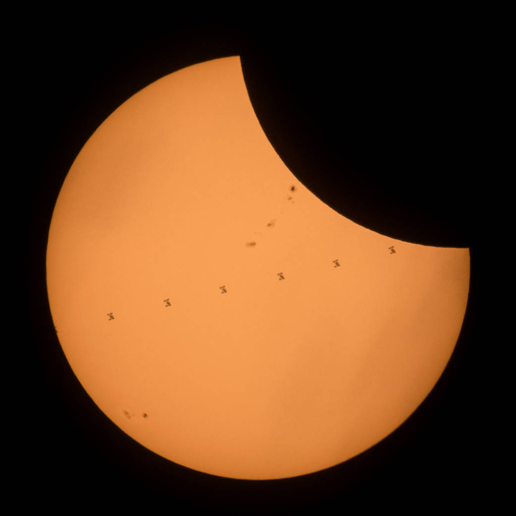 ISS Transit During 2017 Solar Eclipse