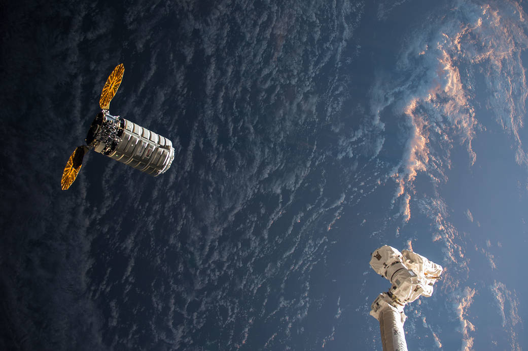 Resupply ship approaches the Space Station