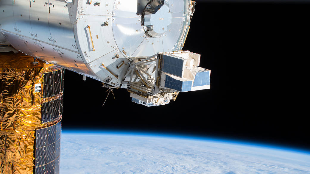 ASIM hardware attached to exterior of space station