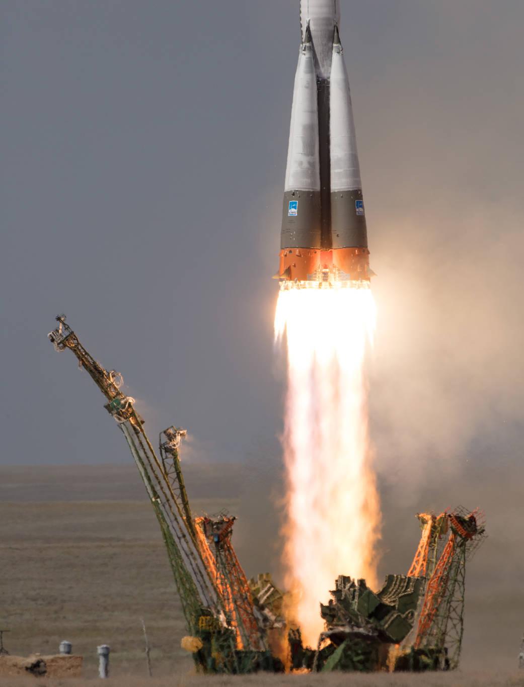 Liftoff of Soyuz