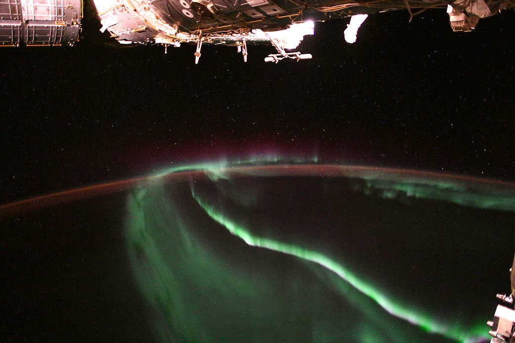 Aurora seen from the Space Station