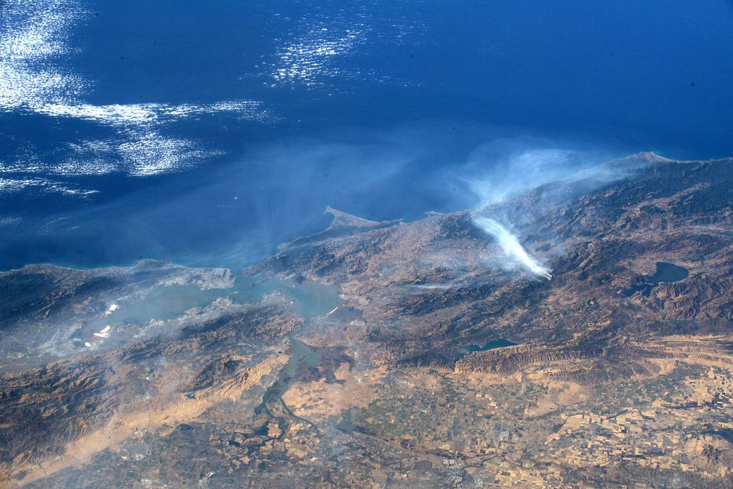 California wildfire from the space station Oct. 30, 2019
