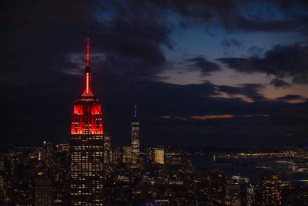 Empire State Illuminated for Mars Perseverance