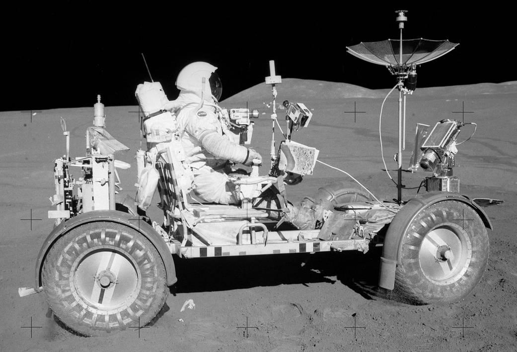 Apollo 15 LRV driven by Commander Dave Scott
