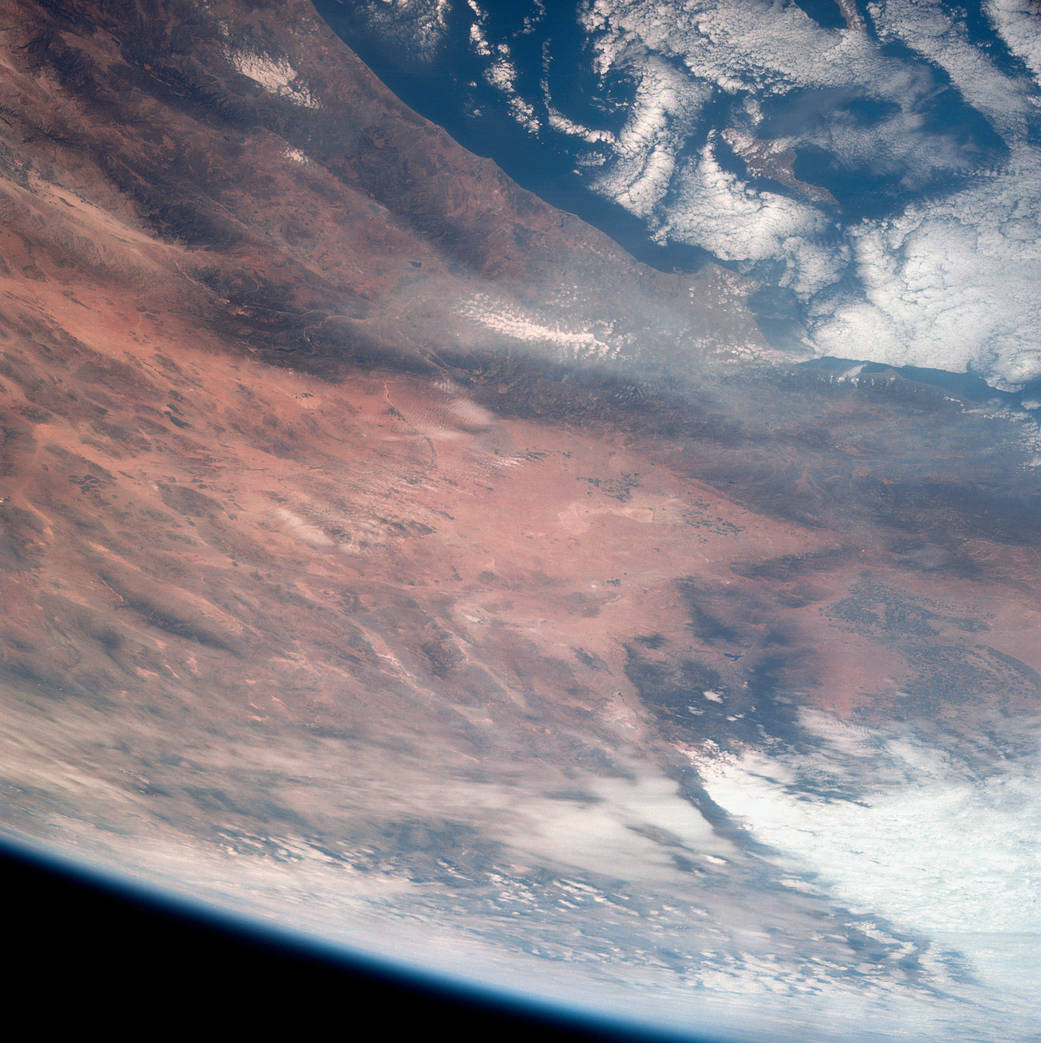 Southern California as seen from Apollo 7