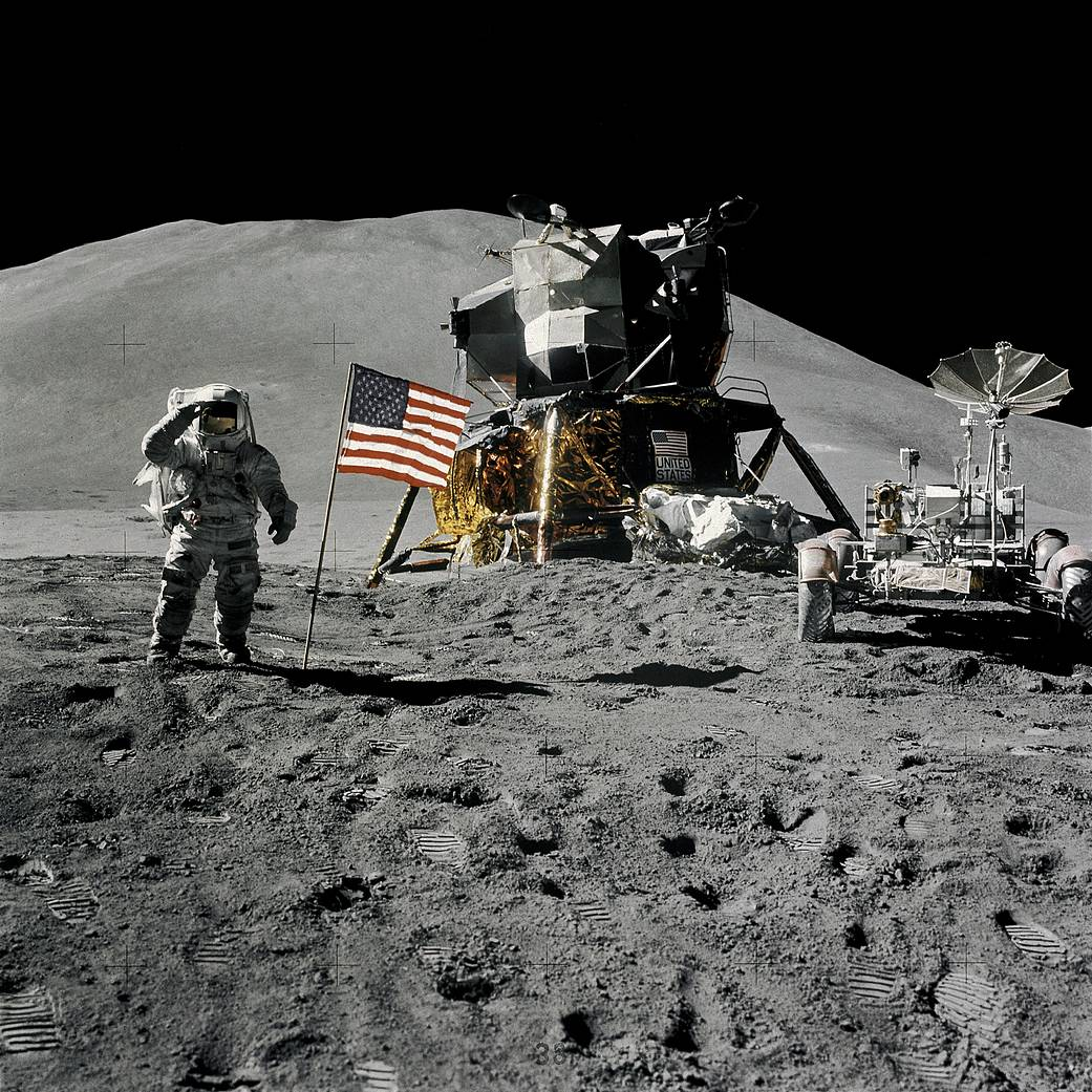 This week in 1971, Apollo 15 astronauts Jim Iwrin and David Scott deployed the first Lunar Roving Vehicle on the moon.