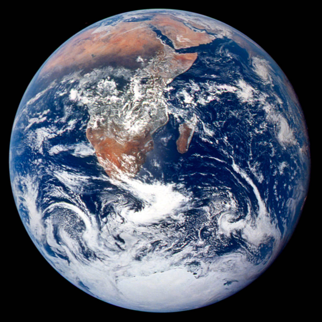 Earth as seen by Apollo 17 in 1972