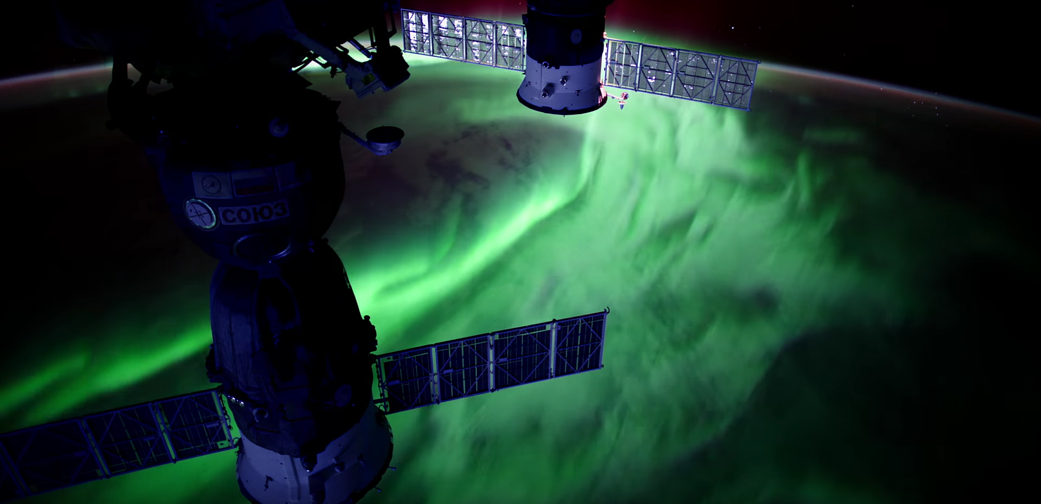 aurora as seen from ISS