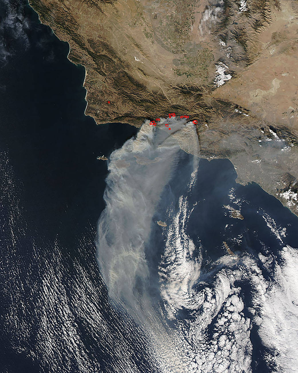 Aqua image of Thomas Fire