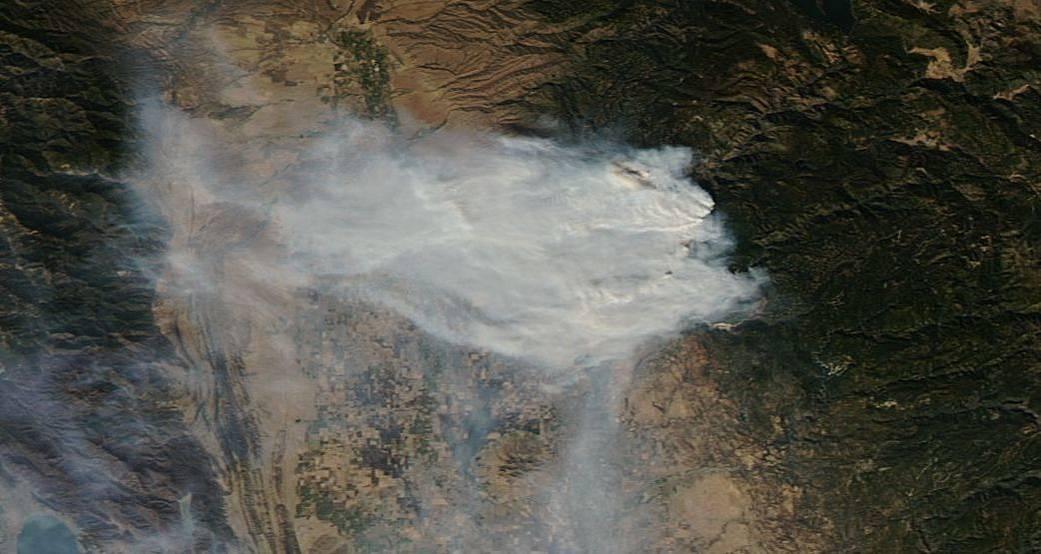 Aqua image of Camp Fire
