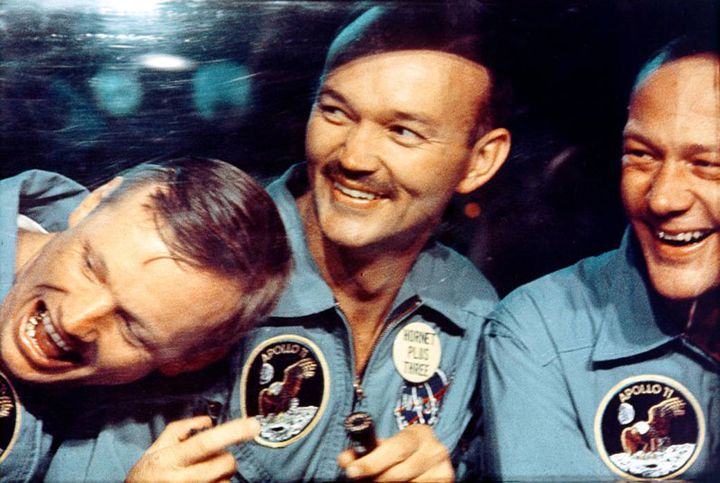 Apollo 11 crew after splashdown