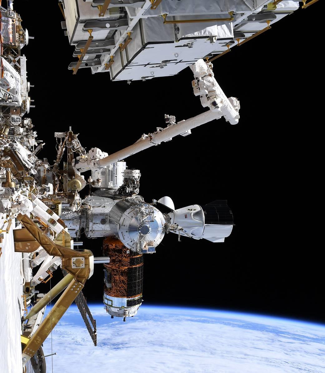 View during June 26, 2020, spacewalks