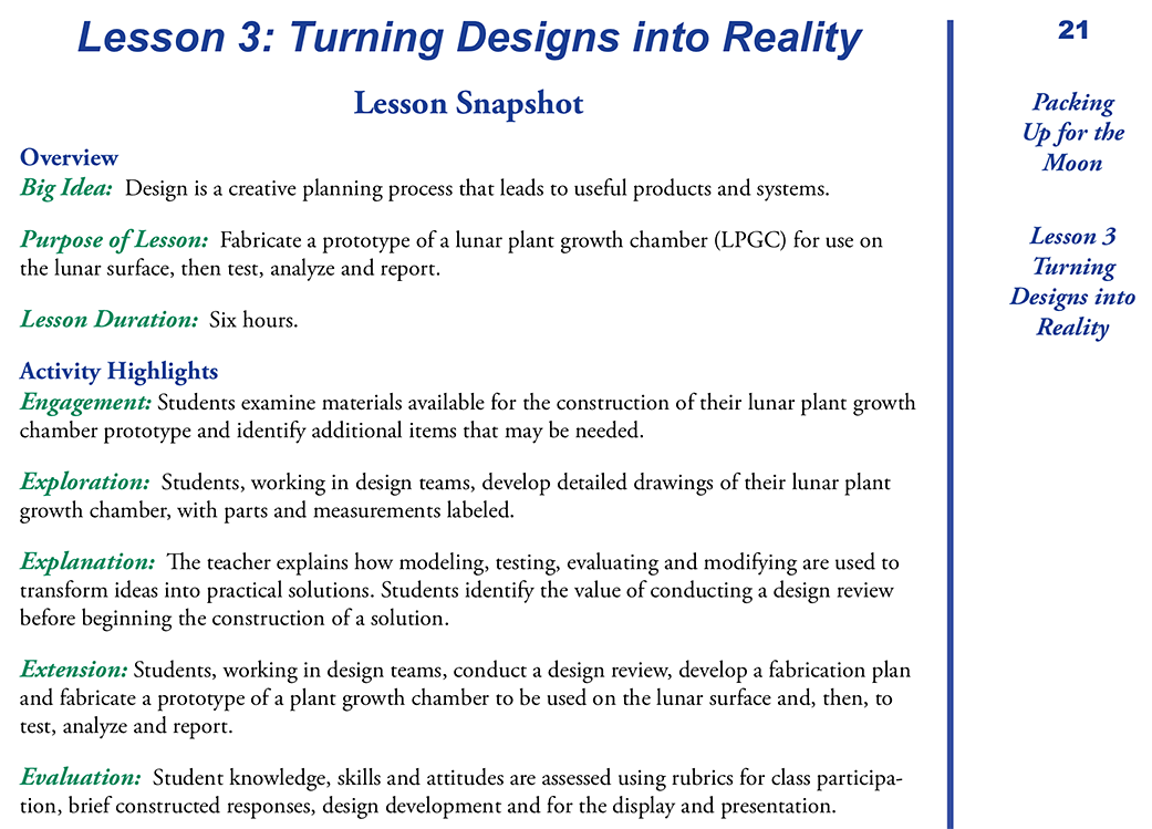 Lesson 3: Turning Designs into Reality | NASA