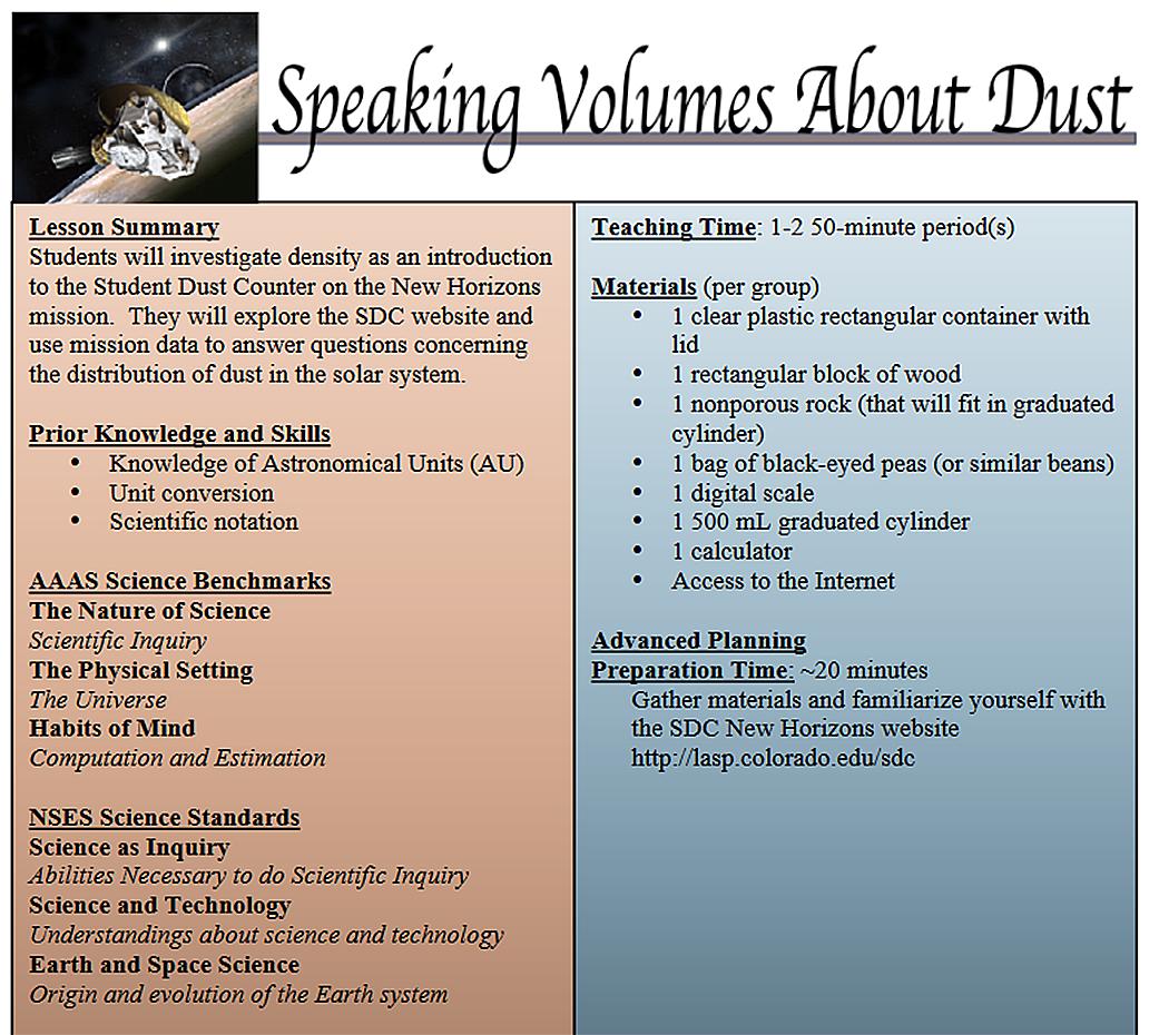 Speaking Volumes About Dust | NASA