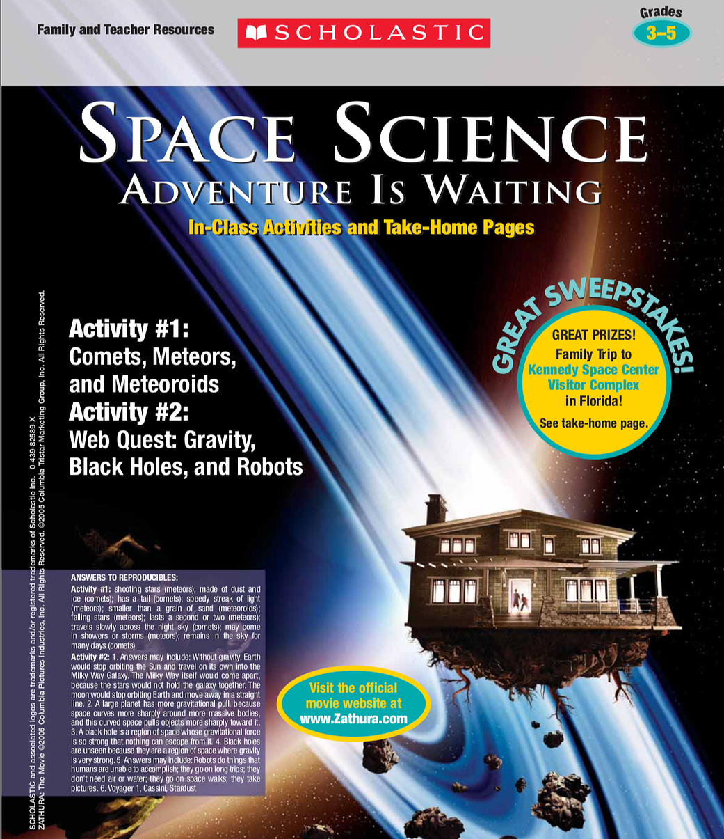Space Science Adventure Is Waiting Activity 3 5 Nasa