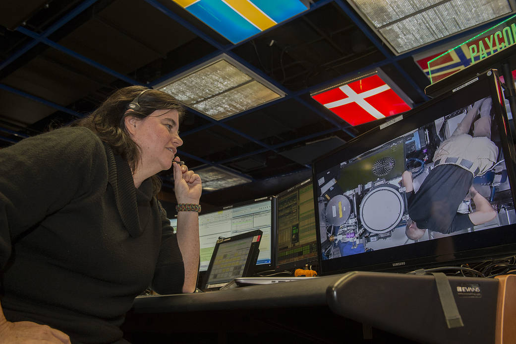 Pettigrew chats in real time with a space station crew member