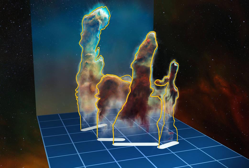 3-D visualization of Pillars of Creation