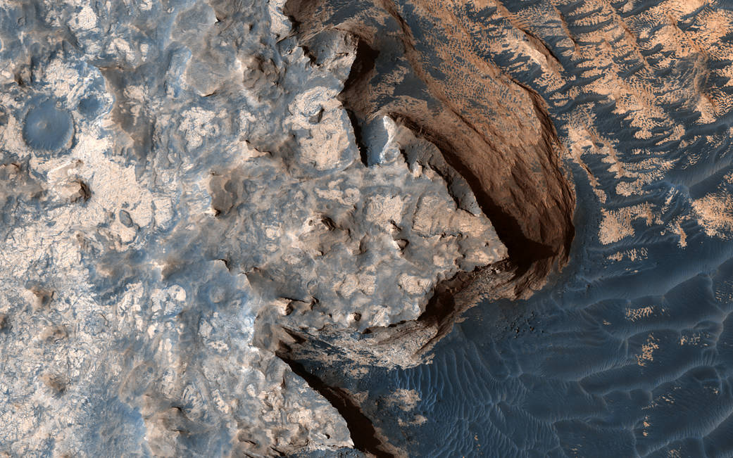Mars terrain imaged from Mars orbit