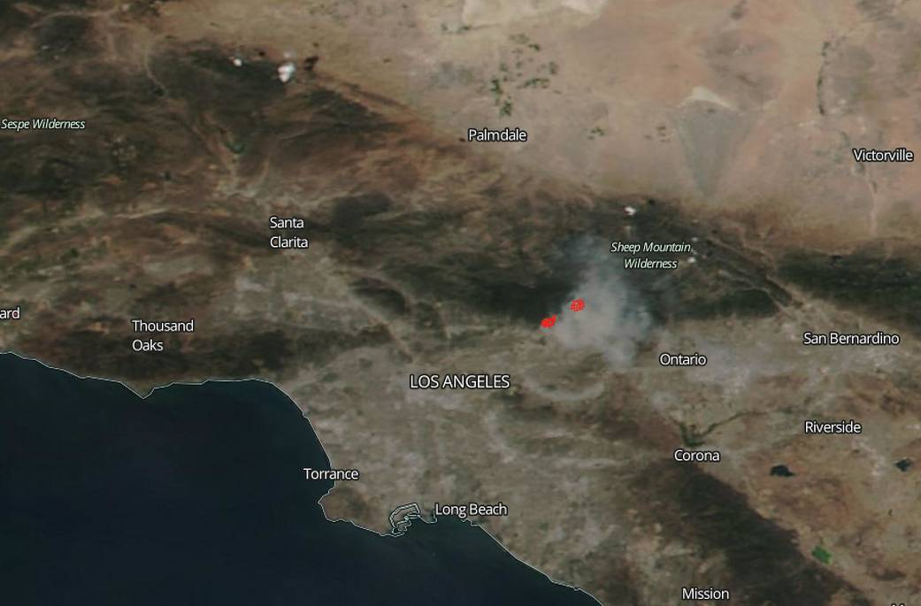 Reservoir and Fish fires near Los Angeles