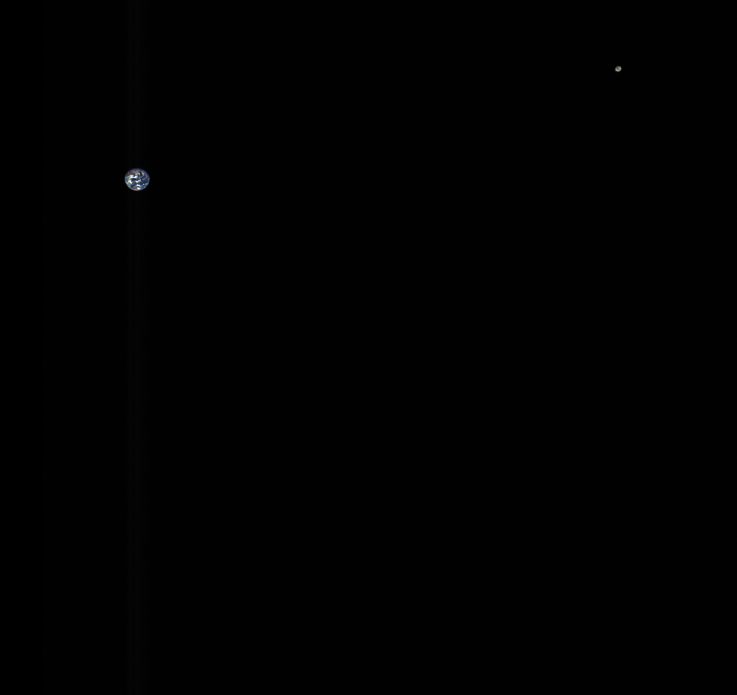 Earth and Moon from OSIRIS-REx