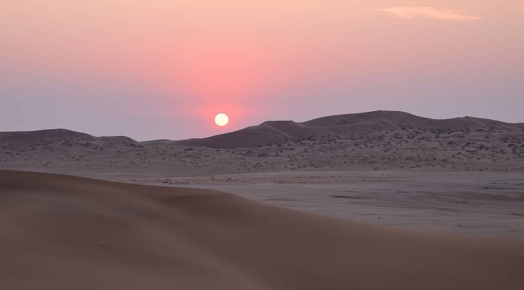 Sunset at Gobabeb, Namibia.