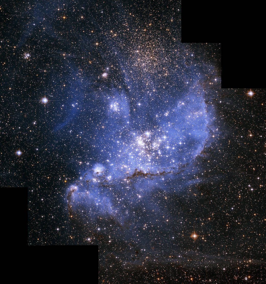 blueish cloud with stars