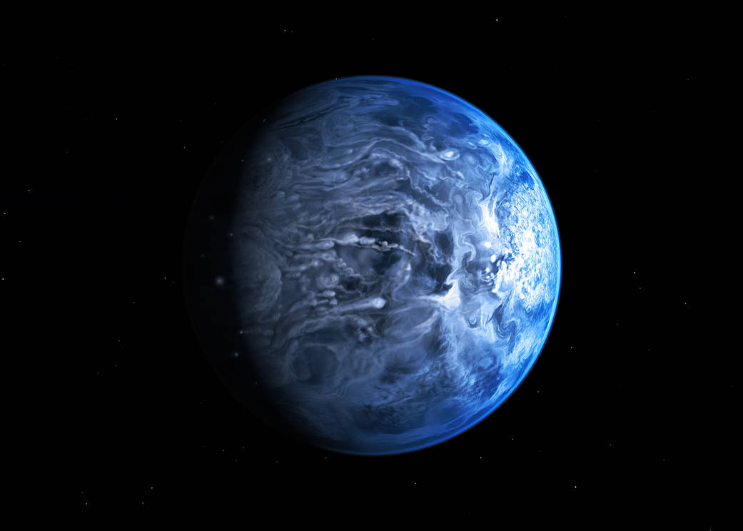 Artist concept of exoplanet HD 189733b